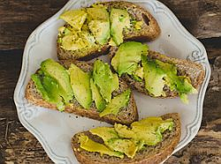 Avocado sandwich on the table