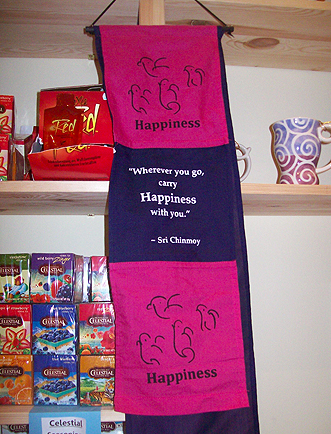 Das Motto des Happiness-Heart-Cafés in Berlin Wilmersdorf